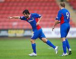 Danni Sanchez celebrates his opening goal for Inverness