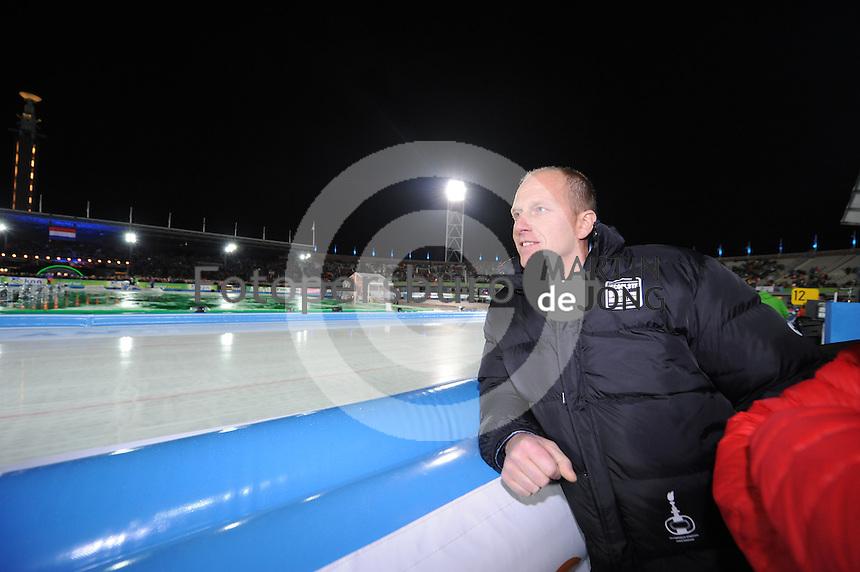 SCHAATSEN: AMSTERDAM: Olympisch Stadion, 01-03-2014, KPN NK Sprint/Allround, Coolste Baan van Nederland, Rintje Ritsma (initiatiefnemer), ©foto Martin de Jong