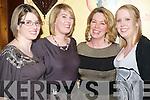 Louise MacIndoe, Louise MacIndoe Gaughran, Sharon and Lauran MacIndoe enjoying Womens Christmas in Bombay Palace Restaurant, Killarney.