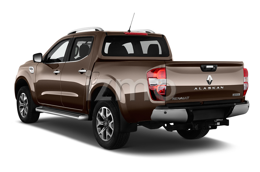 Car pictures of rear three quarter view of a 2018 Renault Alaskan Denali 4 Door Pick Up angular rear