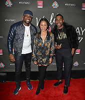 LOS ANGELES, CA- NOV. 30: Harmony Samuels, Rhyon Brown, MAJOR at the 30th Anniversary AIDS Healthcare Foundation Concert at the Shrine Auditorium in Los Angeles on November 30, 2017 Credit: Koi Sojer/Snap'N U Photos/Media Punch