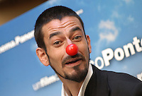 """MILOUD OUKILI.Photocall for the film """"Parada"""" in .Rome, Italy, September 17th 2008..portrait headshot red nose funny .CAP/CAV.©Luca Cavallari/Capital Pictures"""