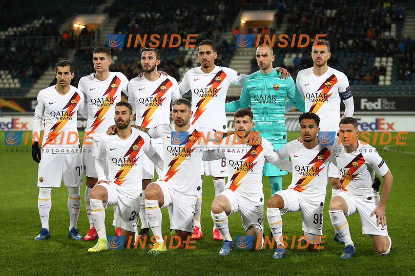 AS Roma team line up<br /> <br /> Gand 27/02/2020 Ghelamco Arena <br /> Football Europa League 2019/2020 round of 32 2nd Leg KAA Gent - AS Roma <br /> Photo Gino Mancini / Insidefoto