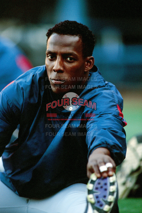 Vladimir Guerrero of the Montreal Expos during a game against the Los Angeles Dodgers at Dodger Stadium circa 1999 in Los Angeles, California. (Larry Goren/Four Seam Images)