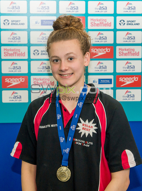 Picture by Allan McKenzie/SWpix.com - 07/08/2015 - Swimming - British Swimming ASA National Championships 2015 - Ponds Forge International Sports Centre- Sheffield, England - Charlotte Nester.