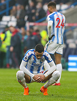 Huddersfield Town's Thomas Ince reacts after the final whistle<br /> <br /> Photographer Alex Dodd/CameraSport<br /> <br /> The Premier League - Huddersfield Town v Swansea City - Saturday 10th March 2018 - John Smith's Stadium - Huddersfield<br /> <br /> World Copyright &copy; 2018 CameraSport. All rights reserved. 43 Linden Ave. Countesthorpe. Leicester. England. LE8 5PG - Tel: +44 (0) 116 277 4147 - admin@camerasport.com - www.camerasport.com