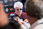 Pedro Almodovar receive the 'Best Director' prize for the movie 'Julieta' in Platino Awards 2017' at La Caja Magica in Madrid, July 22, 2017. Spain.<br /> (ALTERPHOTOS/BorjaB.Hojas)