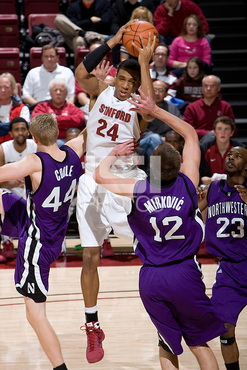 STANFORD, CA - DECEMBER 20:  Josh Owens of the Stanford Cardinal during Stanford's 65-59 win over the Northwestern Wildcats on December 20, 2008 at Maples Pavilion in Stanford, California.