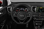 Car pictures of steering wheel view of a 2017 KIA Sportage EX 5 Door SUV