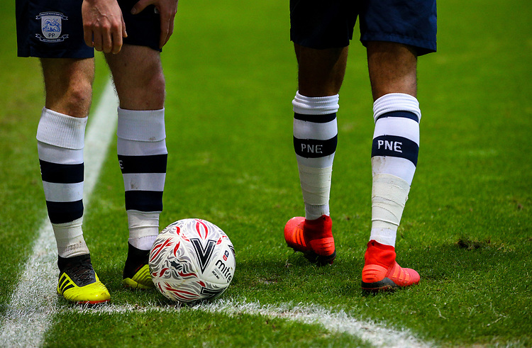 Preston North End's Paul Gallagher prepares to take a corner<br /> <br /> Photographer Alex Dodd/CameraSport<br /> <br /> The Emirates FA Cup Third Round - Preston North End v Doncaster Rovers - Sunday 6th January 2019 - Deepdale Stadium - Preston<br />  <br /> World Copyright © 2019 CameraSport. All rights reserved. 43 Linden Ave. Countesthorpe. Leicester. England. LE8 5PG - Tel: +44 (0) 116 277 4147 - admin@camerasport.com - www.camerasport.com