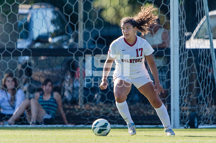 STANFORD, CA - May 3, 2013: Stanford vs Santa Clara in a women's exhibition soccer match in Stanford, California.