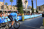 Imanol Erviti (ESP) Movistar Team during Stage 1 of the La Vuelta 2018, an individual time trial of 8km running around Malaga city centre, Spain. 25th August 2018.<br /> Picture: Ann Clarke | Cyclefile<br /> <br /> <br /> All photos usage must carry mandatory copyright credit (© Cyclefile | Ann Clarke)
