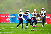 June 6, 2017: New England Patriots tight end Sam Cotton (85) and New England Patriots tight end Glenn Gronkowski (47) work on a blocking drill at the New England Patriots mini camp held on the practice field at Gillette Stadium, in Foxborough, Massachusetts. Eric Canha/CSM
