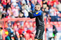 Fleetwood Town's Matt Gilks applauds the Lincoln City fans at the final whistle<br /> <br /> Photographer Chris Vaughan/CameraSport<br /> <br /> The EFL Sky Bet League One - Lincoln City v Fleetwood Town - Saturday 31st August 2019 - Sincil Bank - Lincoln<br /> <br /> World Copyright © 2019 CameraSport. All rights reserved. 43 Linden Ave. Countesthorpe. Leicester. England. LE8 5PG - Tel: +44 (0) 116 277 4147 - admin@camerasport.com - www.camerasport.com