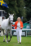 Gina Ruck during the First Vets Inspection at the 2014 Land Rover Burghley Horse Trials held at Burghley House, Stamford, Lincolnshire