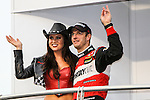 SEBASTIEN  BOURDAIS appears at the driver introductions before the Verizon Indy Car Firestone 600 race at Texas Motor Speedway in Fort Worth,Texas.
