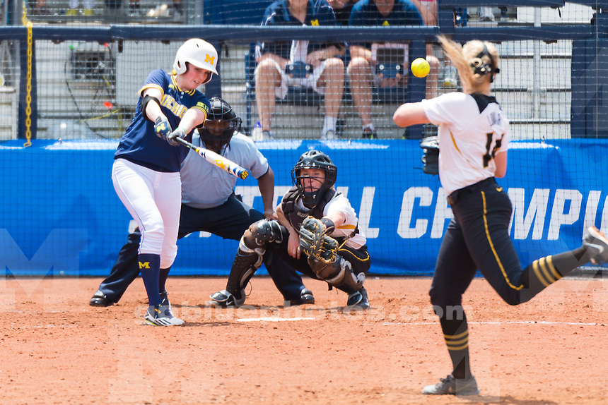 The University of Michigan softball team, 5-4 victory over Missouri clinching the NCAA Super Regionals at the Wilpon Complex in Ann Arbor, MI. on 5/29/16.