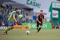 Seattle, Washington - Friday, March 31, 2017: Seattle Sounders FC vs Atlanta United FC. Final Score, Seattle Sounders FC 0, Atlanta United FC 0