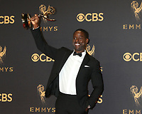 LOS ANGELES - SEP 17:  Sterling K Brown at the 69th Primetime Emmy Awards - Press Room at the JW Marriott Gold Ballroom on September 17, 2017 in Los Angeles, CA
