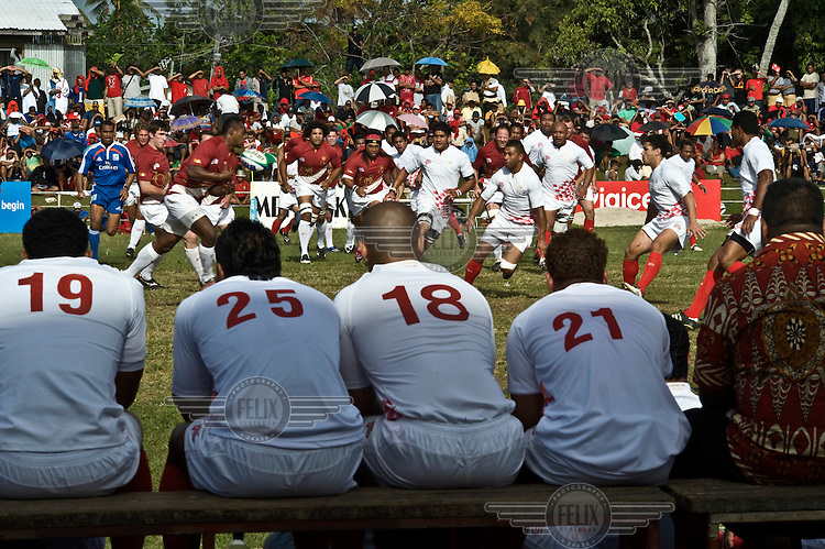 Rugby match between an invited World 15 team and Ikaletahi, the home Tongan national team. The home team won 60 - 26. The event was part of the national celebrations spanning five days, to mark the coronation of King George Tupou V.