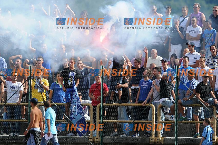 Tifosi della Lazio.Lazio vs Osasuna  0-1.Amichevole di calcio.Fiuggi, 28/07/2011.Photo Antonietta Baldassarre Insidefoto