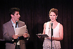 Seth Rudetsky and Kelli O'Hara performing at the Seth Rudetsky Book Launch Party for 'Seth's Broadway Diary' at Don't Tell Mama Cabaret on October 22, 2014 in New York City.