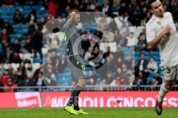 Real Sociedad's Willian Jose Da Silva during La Liga match between Real Madrid and Real Sociedad at Santiago Bernabeu Stadium in Madrid, Spain. January 06, 2019. (ALTERPHOTOS/A. Perez Meca)<br />  (ALTERPHOTOS/A. Perez Meca)