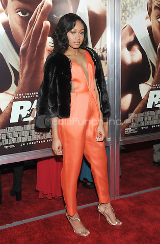 NEW YORK, NY - FEBRUARY 17:  Shanice Banton at thes 'Race' New York Screening at Landmark's Sunshine Cinema on February 17, 2016 in New York City.  Credit: John Palmer/MediaPunch