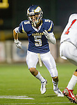 El Segundo, CA 10/30/14 - Nick Karsseboom (El Segundo #5) in action during the Lawndale - El Segundo Varsity football game at El Segundo High School.  El Segundo defeated Lawndale 35-14.
