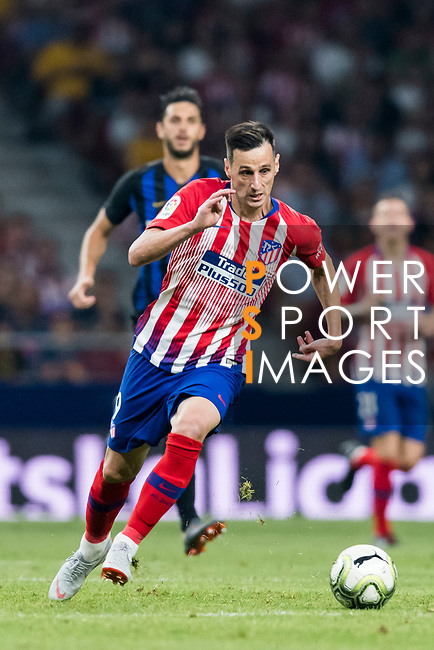 Nikola Kalinic of Atletico de Madrid in action during their International Champions Cup Europe 2018 match between Atletico de Madrid and FC Internazionale at Wanda Metropolitano on 11 August 2018, in Madrid, Spain. Photo by Diego Souto / Power Sport Images