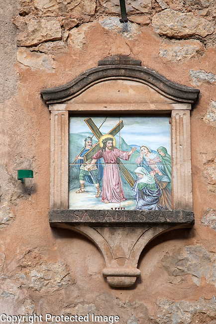 Stations of the Cross in Deia, Majorca, Spain