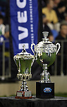 The Gallagher Cup and Iveco Stralis Cup on show during the first international rugby test at Eden Park, Auckland, New Zealand, Saturday, June 02, 2007. The All Blacks beat France 42-11.