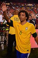 WASHINGTON, USA, 30 MAIO 2012 - AMISTOSO USA X BRA - Jogador Marcelo da selecao brasileira durante partida em amistoso contra selecao dos Estados Unidos no estádio Fedex Field, em Washington, nesta quarta-feira. FOTO: LUCIANA LEMMI - BRAZIL PHOTO PRESS.