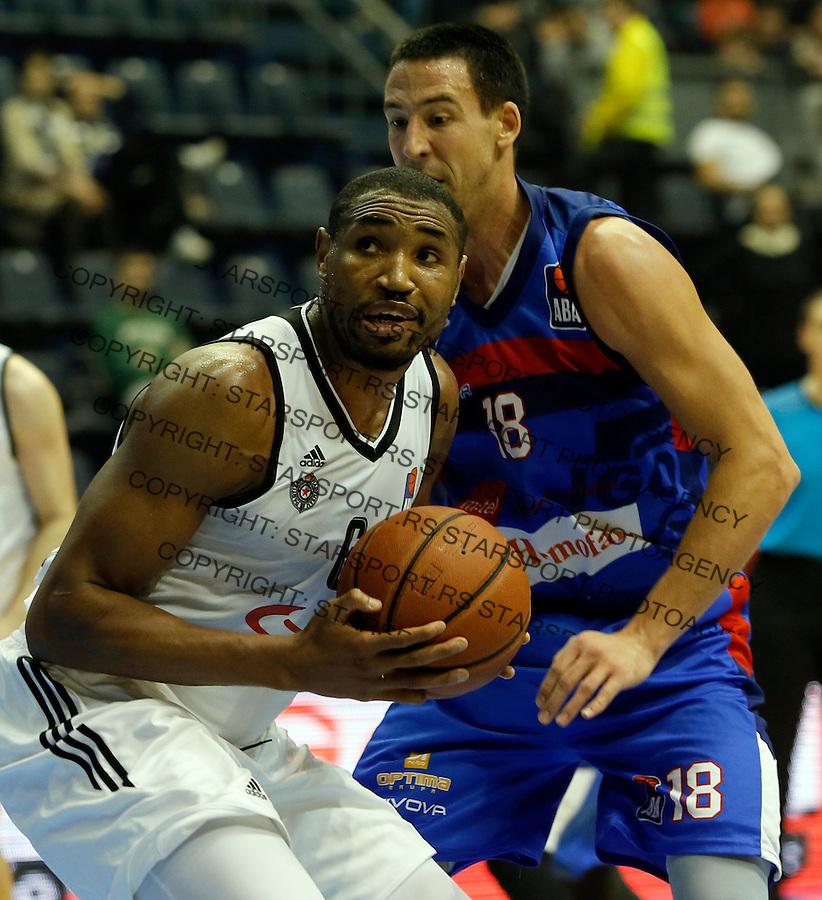 Kevin Andrew Jones Vuk Radivojevic Aba regionalna liga Partizan - Igokea 27.12.1015. December 27. 2015. (credit image & photo: Pedja Milosavljevic / STARSPORT)