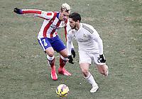 Atletico de Madrid's Antoine Griezmann (l) and Real Madrid's Isco during La Liga match.February 7,2015. (ALTERPHOTOS/Acero) /NORTEphoto.com