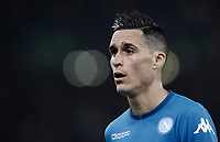 Calcio, Serie A: Roma, stadio Olimpico, 14 ottobre 2017.<br /> Napoli's Jos&eacute; Maria Callejon reacts during the Italian Serie A football match between Roma and Napoli at Rome's Olympic stadium, October14, 2017.<br /> UPDATE IMAGES PRESS/Isabella Bonotto