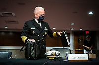 Admiral Brett Giroir, United States Assistant Secretary for Health, arrives prior to a US Senate Health, Education, Labor and Pensions Committee hearing in Washington, D.C., U.S., on Tuesday, June 30, 2020. Top federal health officials are expected to discuss efforts to get back to work and school during the coronavirus pandemic. Photographer: Al Drago/Bloomberg<br /> Credit: Al Drago / Pool via CNP /MediaPunch