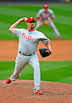13 April 2009: Philadelphia Phillies' pitcher Clay Condrey on the mound during the Washington Nationals' Home Opener at Nationals Park in Washington, DC. The Nats fell short in their 9th inning rally, losing 9-8, as the visiting Phillies handed the Nats their 7th consecutive loss of the 2009 season. Mandatory Credit: Ed Wolfstein Photo