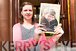 Librarian Niamh Doyle from the Dingle Library with the 1976 National Geographic Magazine featuring Dingle.....
