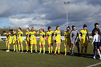 Oxford United before Tottenham Hotspur Ladies vs Oxford United Women, FA Women's Super League FA WSL2 Football at Theobalds Lane on 11th February 2018