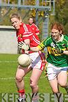 Louise Ni? Mhuircheartaigh Kerry tackles Angela Walsh Cork