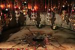 Bethlehem, Church of the Nativity, the Star of Bethlehem at the Grotto of the Nativity