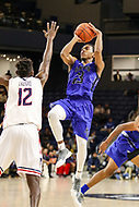 Washington, DC - December 22, 2018: Hampton Pirates guard Kalin Fisher (23) attempts a jump shot during the DC Hoops Fest between Hampton and Howard at  Entertainment and Sports Arena in Washington, DC.   (Photo by Elliott Brown/Media Images International)