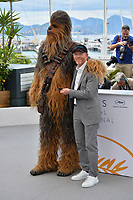 """Ron Howard & Chewbacca at the photocall for """"Solo: A Star Wars Story"""" at the 71st Festival de Cannes, Cannes, France 15 May 2018<br /> Picture: Paul Smith/Featureflash/SilverHub 0208 004 5359 sales@silverhubmedia.com"""