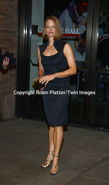 Jody Foster attends the Glamour Women of the Year Awards on November 10, 2014 at Carnegie Hall in New York City. <br /> <br /> photo by Robin Platzer/Twin Images<br />  <br /> phone number 212-935-0770