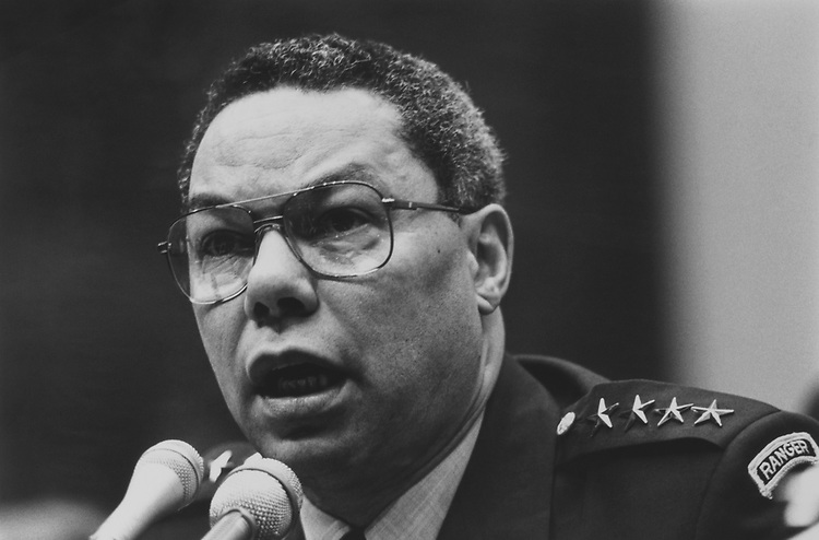 General Colin Powell, in February 1991. (Photo by Maureen Keating/CQ Roll Call via Getty Images)