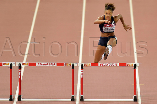 24.08.2015. Beijing, China. 15th International Association of Athletics Federations (IAAF) Athletics World Championships in Beijing, China.  Aurelie Chaboudez in action during the semi-final of the 400m hurdles women