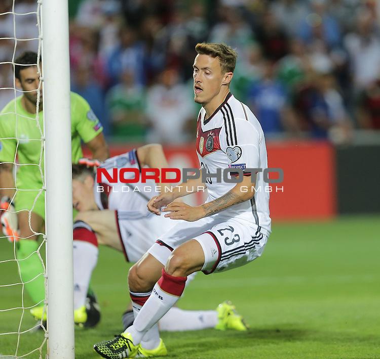 EM 2015 Qualifikationsspiel, Gibraltar vs. Deutschland<br /> Max Kruse (Deutschland) erzielt das 2:0<br /> <br /> <br /> Foto &copy; nordphoto /  Bratic
