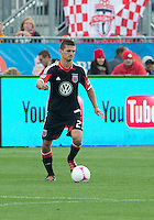 06 October 2012: D.C. United midfielder/defender Perry Kitchen #23 in action during an MLS game between D.C. United and Toronto FC at BMO Field in Toronto, Ontario..D.C. United won 1-0..