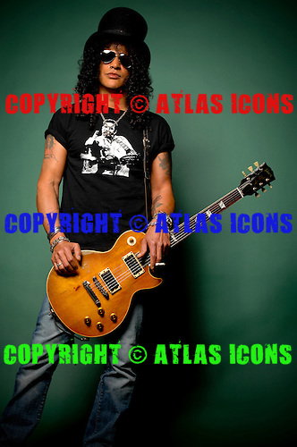 SLASH: Guitarist of Guns N Roses: .In Los Angelas, .Photo Credit: Eddie Malluk/Atlas Icons.com